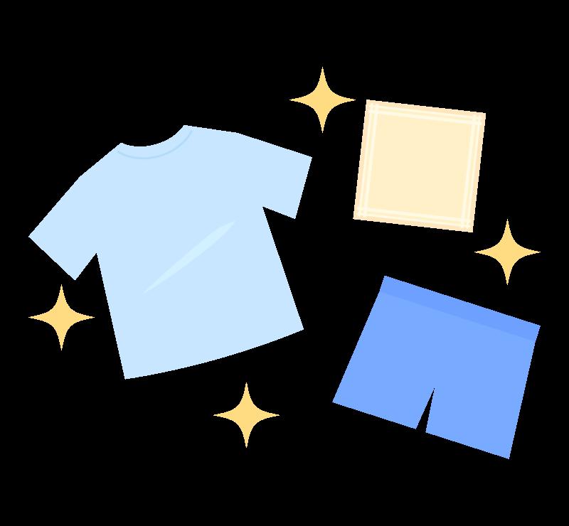 服を洗濯のイラスト