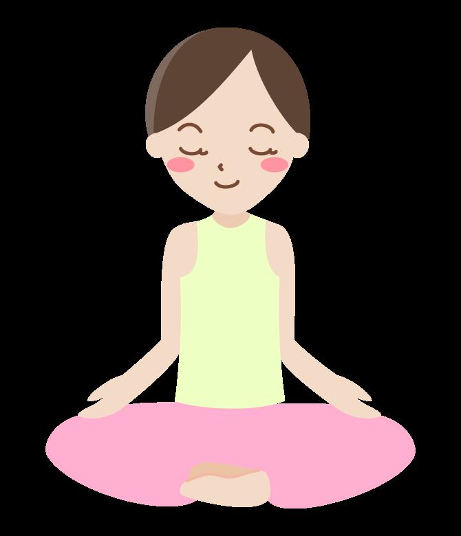 ヨガ・瞑想のイラスト