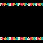 A~Zのアルファベットの上下フレーム・飾り枠のイラスト