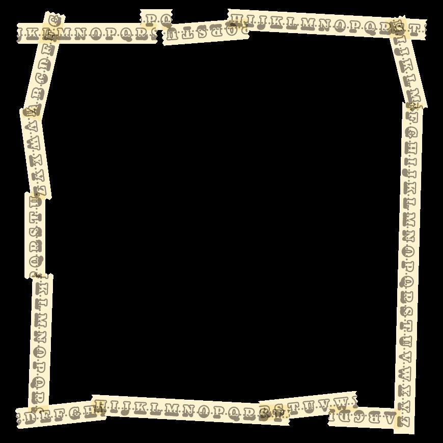 アルファベットのテープのフレーム・飾り枠のイラスト
