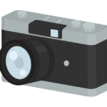 アンティークカメラのイラスト