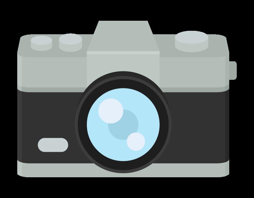 アンティークカメラ(正面)のイラスト