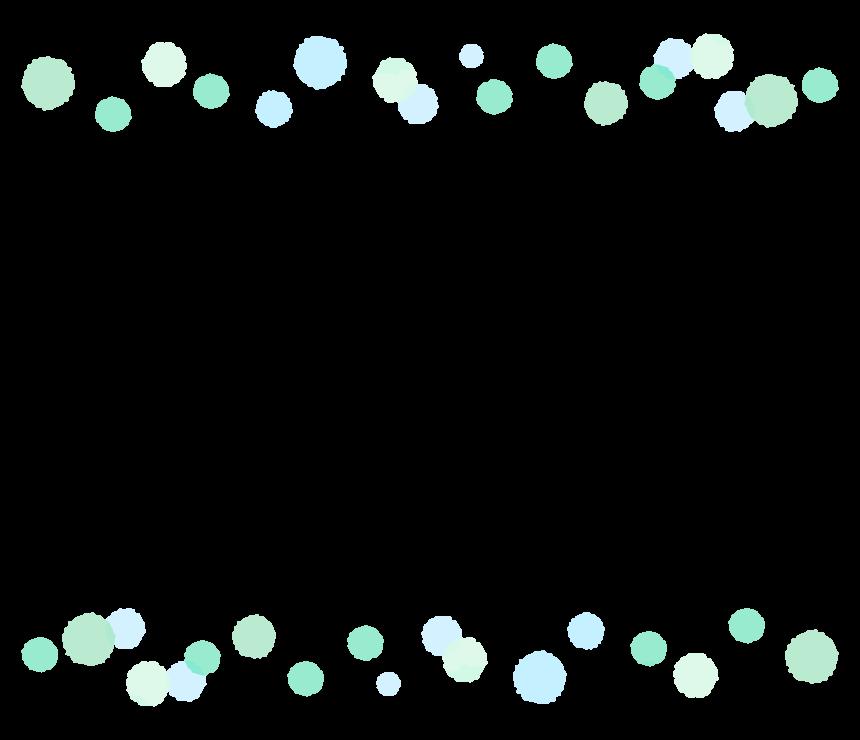 手書き風の水玉のフレーム・飾り枠のイラスト