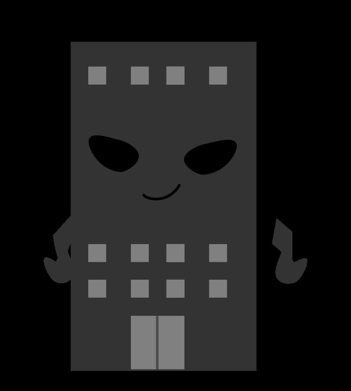 ブラック企業のキャラクターのイラスト