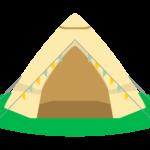 三角のテントのイラスト