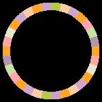 サークル状のカラーフレーム・飾り枠のイラスト