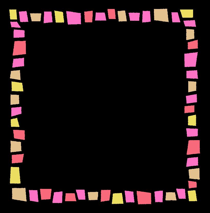 カラフルでポップなデザインのフレーム・飾り枠のイラスト
