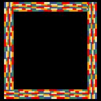 カラフルな四角いフレーム・飾り枠のイラスト