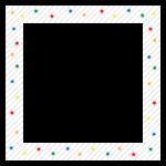 カラフルな星と斜線のフレーム・飾り枠のイラスト