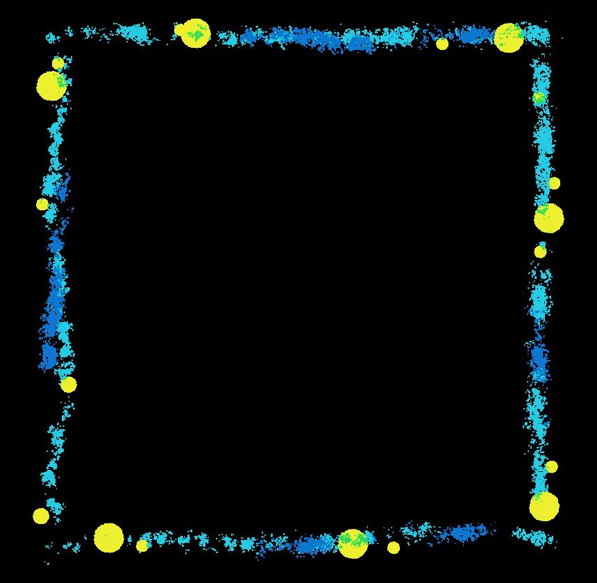カラフルな水彩画タッチのフレーム・飾り枠のイラスト