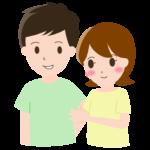 若いカップルのイラスト