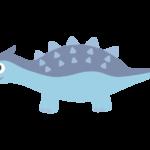 かわいい恐竜・アンキロサウルスのイラスト