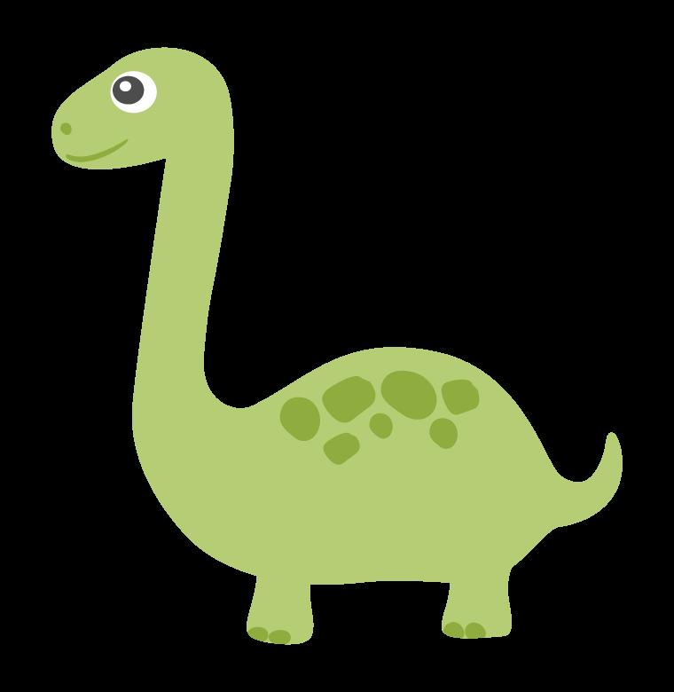 かわいい恐竜・ブラキオサウルスのイラスト