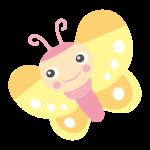 かわいい蝶々のイラスト