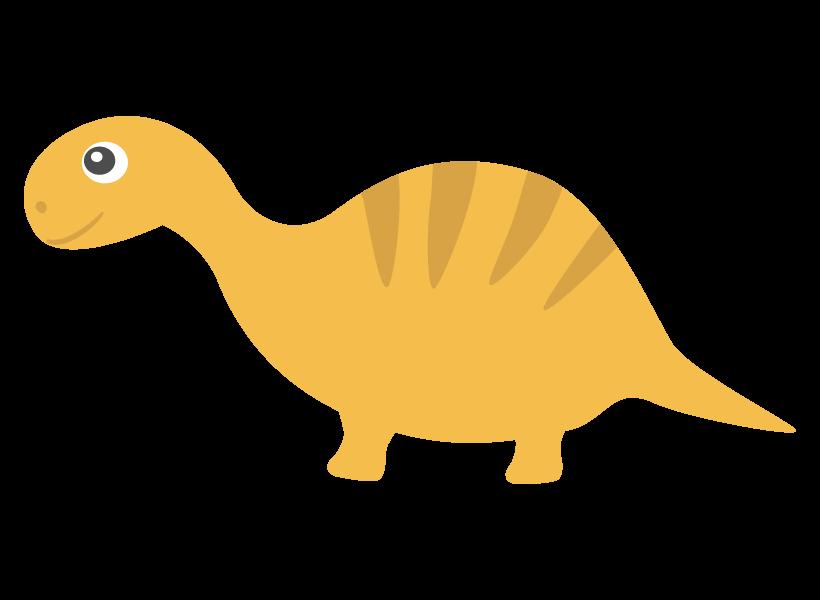 かわいい恐竜・イグアノドンのイラスト