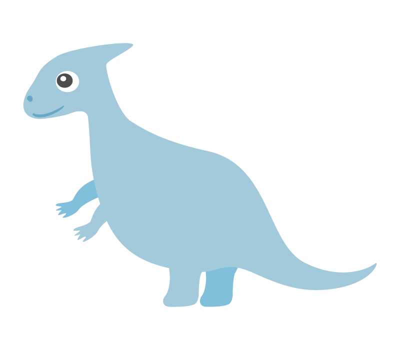 かわいい恐竜・パラサウロロフスのイラスト