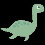 かわいい恐竜・プレシオサウルスのイラスト