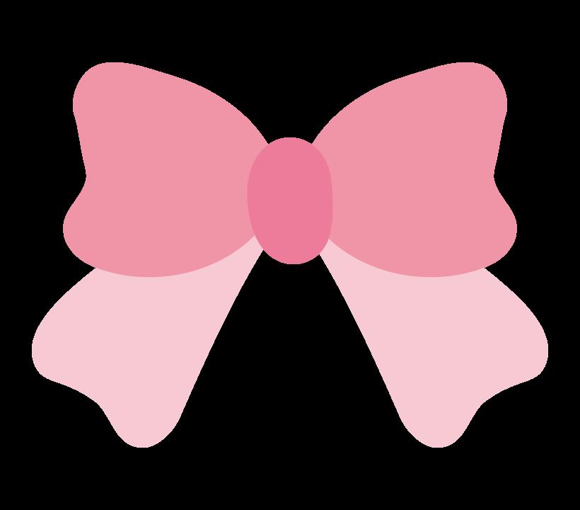 かわいいピンクのリボンのイラスト