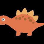 かわいい恐竜・ステゴサウルスのイラスト