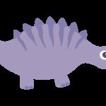 かわいい恐竜・ステゴサウルスのイラスト02