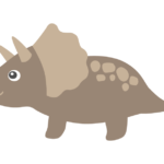 かわいい恐竜・トリケラトプスのイラスト