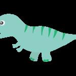 かわいい恐竜・ティラノサウルスのイラスト