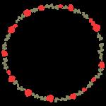 バラの花のサークル状のフレーム・飾り枠のイラスト