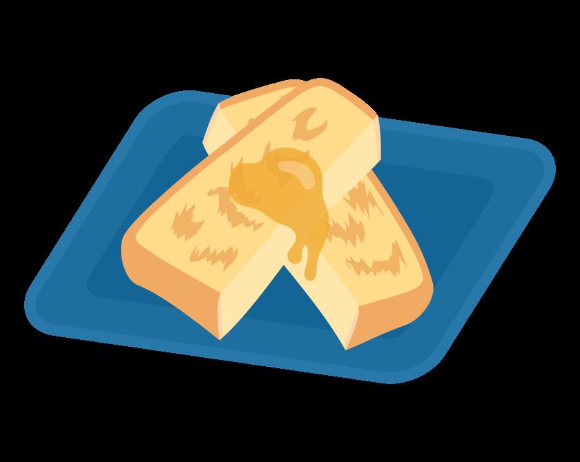 フレンチトーストのイラスト