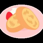 フランスパンのフレンチトーストのイラスト