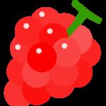 赤いぶどう(葡萄)のイラスト