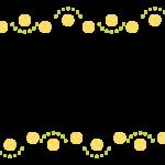 フルーツの上下フレーム・飾り枠のイラスト