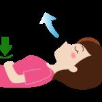 腹式呼吸(息を吐く)のイラスト