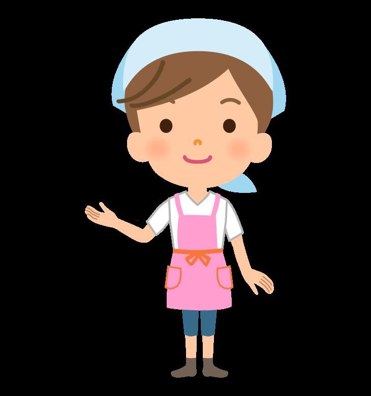 家事代行サービス・主婦のイラスト