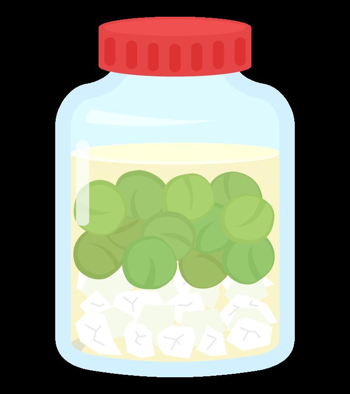 手作り梅酒のイラスト