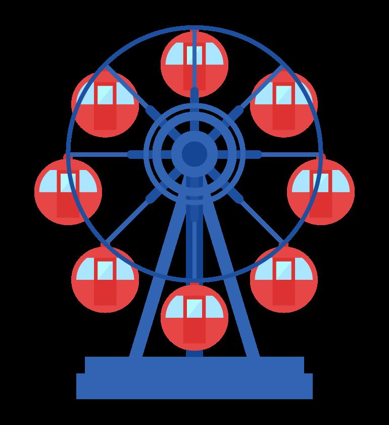 遊園地の観覧車のイラスト