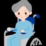 車椅子のおばあさんのイラスト