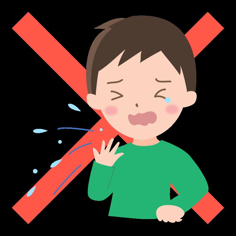 咳やくしゃみを手で受け止めるのはNG