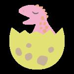 かわいい恐竜の赤ちゃんのイラスト