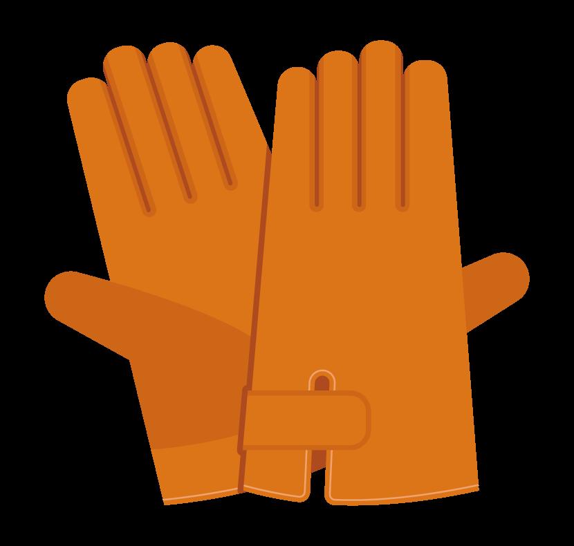 皮手袋のイラスト