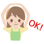OKのポーズをする女性のイラスト