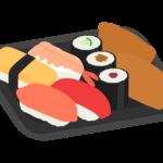 パック寿司のイラスト