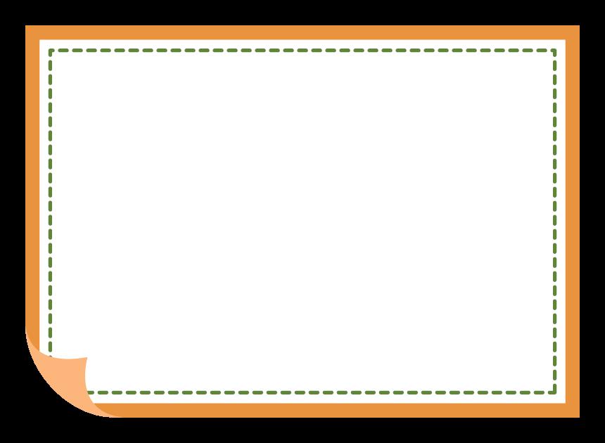紙風の点線のフレーム・飾り枠のイラスト
