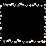 雨・傘のフレーム・飾り枠のイラスト