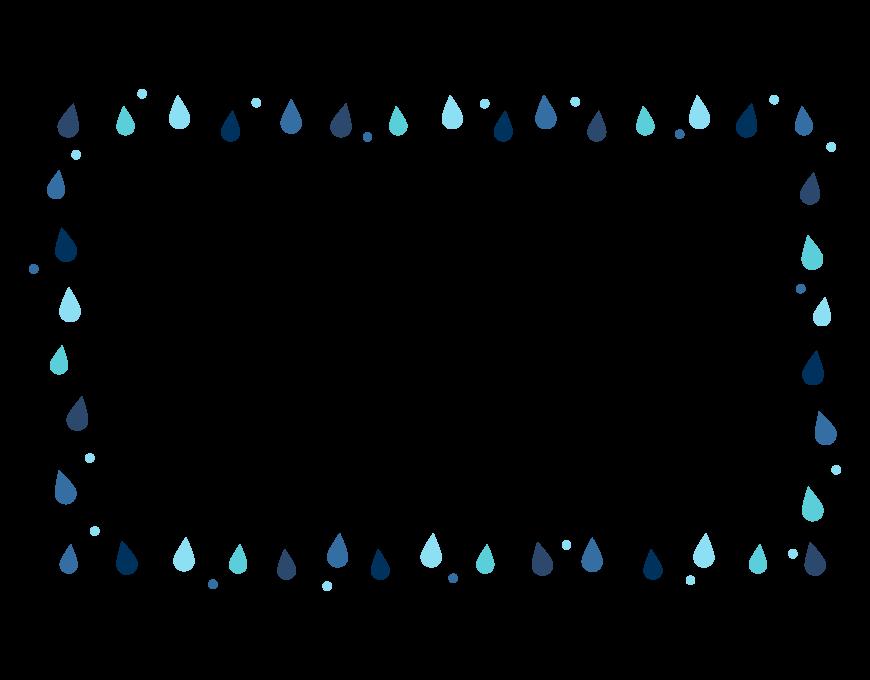 雨・雫のフレーム・飾り枠のイラスト