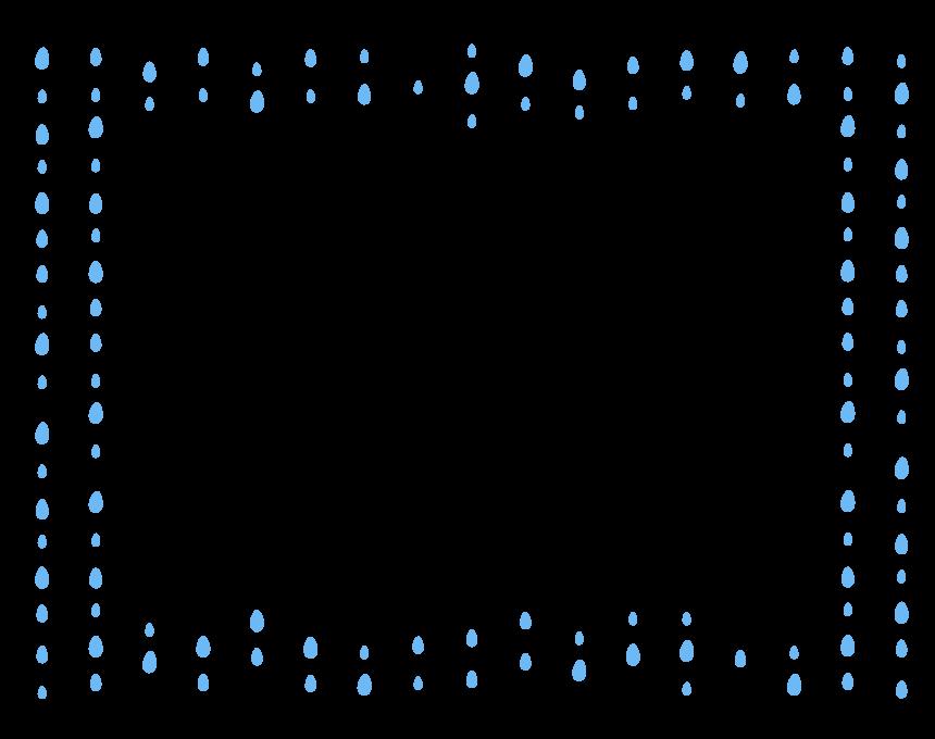 雨・水滴のフレーム・飾り枠のイラスト