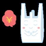 レジ袋有料のキャラクターのイラスト