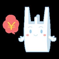 レジ袋有料のキャラクターのイラスト02