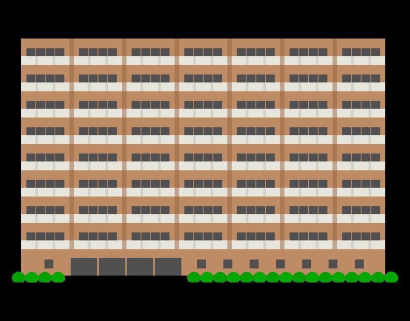 集合住宅・マンションのイラスト