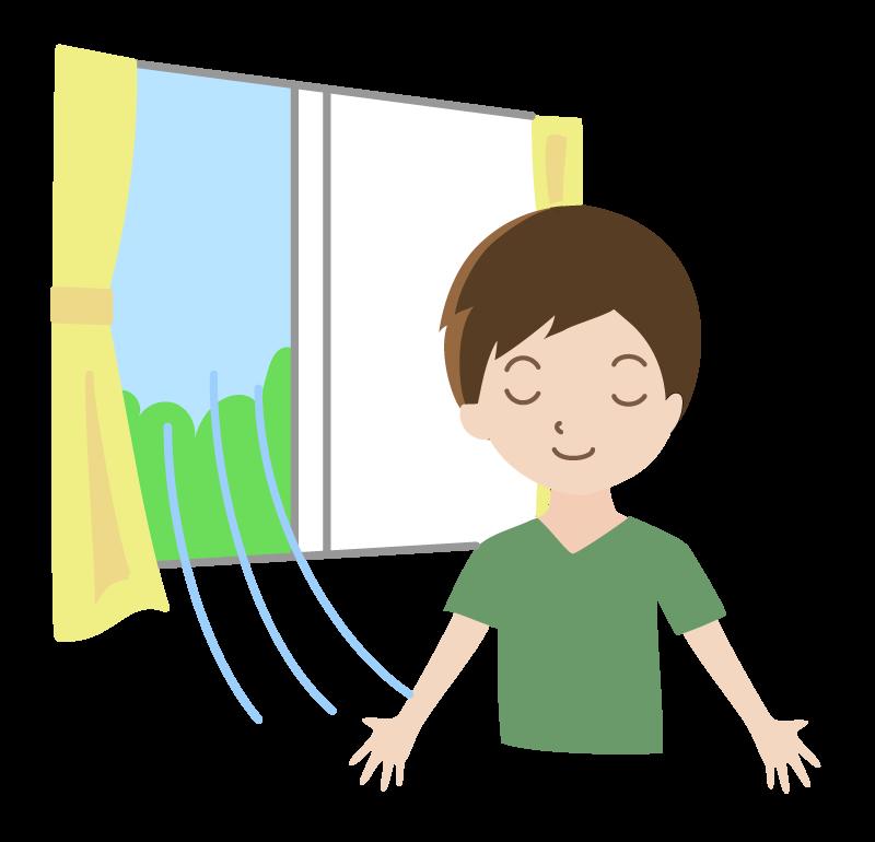 部屋の換気のイラスト 無料のフリー素材 イラストエイト