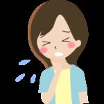 咳やくしゃみをしている女性のイラスト